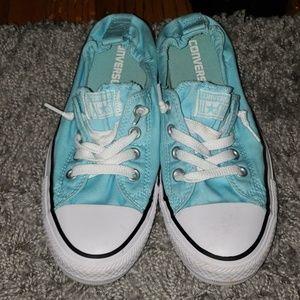 Teal Converse sneakers